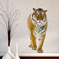 V&C DESIGNS LTD LARGE TIGER ON THE PROWL ANIMAL VINYL WALL STICKER DECAL WALL ART DECORATION MURAL