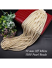 Satyam Kraft Crafts Plastic Pearl Beads For Beading DIY Craft Material,for Decoration,Craft Kit(Off-White)