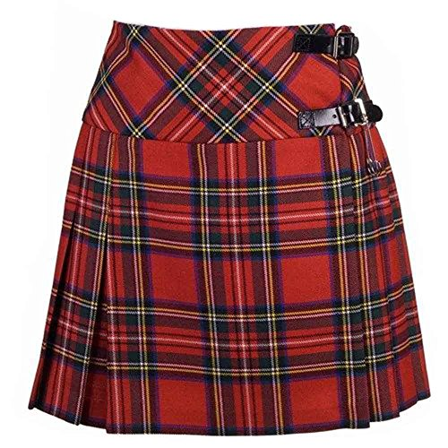 New Damen Royal Stewart Tartan schottische Mini Billie Kilt Mod Rock Größen 6–18UK Gr. 32, Tartanmuster (Tartan-mini-kilt)