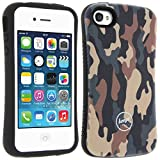 Beeyo - Coque Camouflage Militaire Anti-Choc Apple iPhone 4 / 4S - Marron