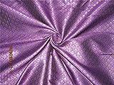 TheFabricFactory Brokat-Stoff, 111,8 cm, Violett/goldfarben