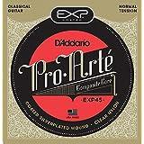 D'Addario EXP45 - Juego de cuerdas para guitarra clásica de nylon con entorchado de plata (tensión media)