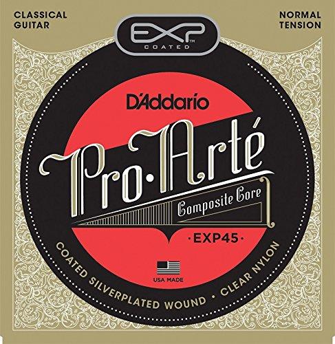D'Addario EXP45 Satz silberüberzogener Nylonsaiten für Konzertgitarre - Normal Tension