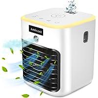 Climatiseur Portable, Climatiseur Mobile, Refroidisseur d'air, 4 en 1 humidificateur d'air, 3 Vitesses et ,Avec lumière…