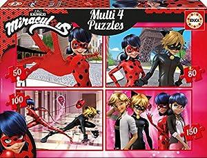 Las aventuras de Ladybug Puzzle Multi 4en1 50-80-100-150 (Educa Borrás 17466)