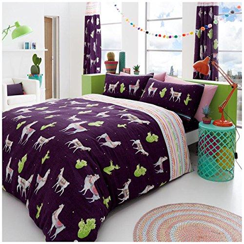 Gaveno Cavailia Luxuriöse Lama Set mit Bettbezug und Kissen, Polyester-, Multi, Doppel (Sammlung Bett Tröster)