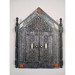 Espejo Marco de Pared con Puertas Marruecos 0830Mosaico Moroccan marroquí étnico Manualidades Hand Made