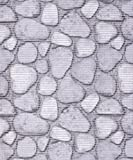 Badvorleger, Aquamat Antirutsch Matte, Bodenbelag, Bad Garten Küche, 120x65 cm, Länge wählbar, Steine Grau