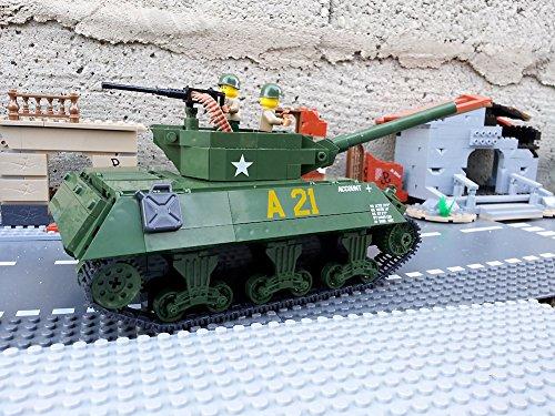 Modbrix 2475 – ★ US ARMY Jagdpanzer M-10 Wolverine Panzer inkl. custom US Army Soldaten aus original Lego© Teilen ★ - 4