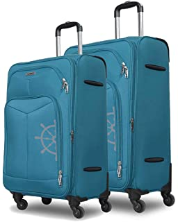 Novex Canyon Sky Blue   Pack of 2  24 inches and 20 inches  Expandable Luggage