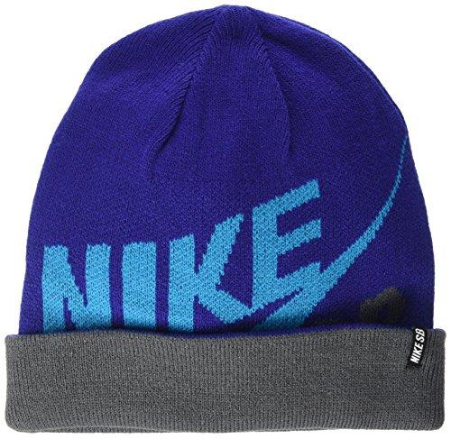 Nike SB Jungen Mütze Reversible Wrap Beanie Blau (Royal Blue), One size (Herstellergröße: One-Size) (Stricken Reversible Winter Hut)
