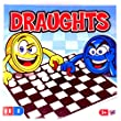 Draughts or Checkers Set by Laeto Toys and Games including Folding Board and Pieces for Kids Children or Adults Traditional Game Sets Ideal Family Perfect Gift