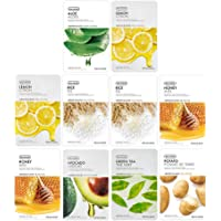 The Face Shop Real Nature Glowing Bride Masksheet Combo (Pack of 10)