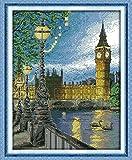 London Tower Stickbild-Set, Kreuzstich nach Zählmuster, Fadendichte14, 35x42cm