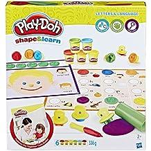 Play-Doh Juego de plastilina y formas, B34041020, Shape and Learn