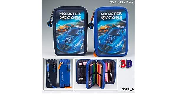 Depesche Monster Cars Fach Federtasche Hologramm Cover