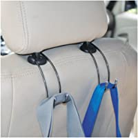 MosQuick Strong Car Stainless Steel holder-Hanger for bags,Car Vehicle Headrest hook for hanging bags,car bin and many…