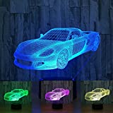 3d luxus - auto nachtlicht illusion lampe 7 farbe ändern, führte an usb - tabelle geschenk kinder spielzeug dekor und weihnachten zum valentinstag - geschenk