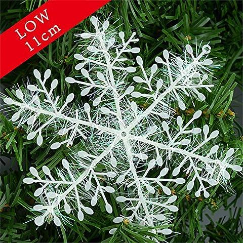 valoxin (TM) flocon de neige décoration de Noël en plastique blanc 3/1PACK Flocons de neige Sapin de Noël Décorations de Noël flocon de neige floco de Neve Navidad