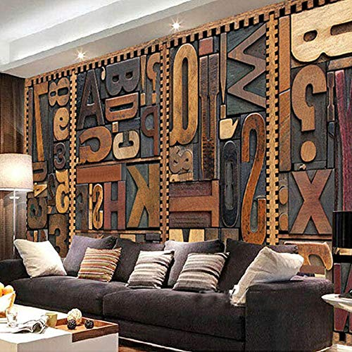 Deep Milch (3D tapete Wandbilder Moderne Deep Texture Letter Photo s Esszimmer Cafe Wohnzimmer Home Decor Tapeten 250x175cm)