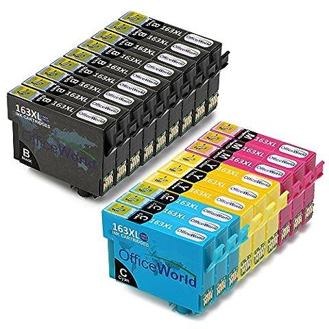 OfficeWorld Remplacer pour Epson 16XL Cartouches d'encre (T1631 T1632 T1633 T1634) Grande Capacité Compatible pour Epson Workforce WF-2010W WF-2510WF WF-2520NF WF-2530WF WF-2540WF WF-2630WF WF-2650DWF WF-2660DWF WF-2750DWF (9 Noir, 3 Cyan, 3 Magenta, 3 Jaune)