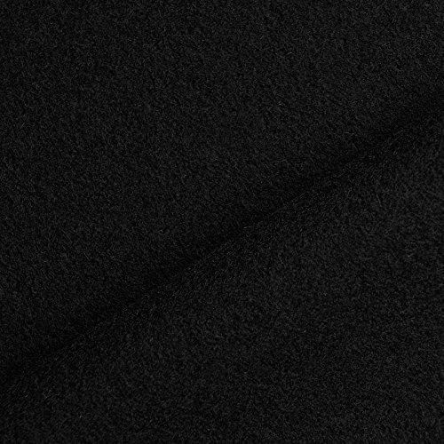 Larp Winter Kostüm - Benedict - Wollstoff aus 100% Wolle, schwer & blickdicht, 1. Wahl - Meterware (schwarz)