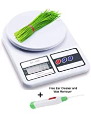 FK Mart Best Electronic Kitchen Digital Electronic Weighing Scale, Multipurpose (White, 10 Kg)