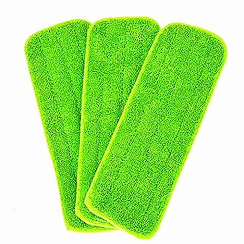 3 pieces Reveal Mop Head Replacement Pad Cleaning Wet Mop Pad Kitchen Me For All Spray Mops & Reveal Mops Washable 16.5*5.5 Inches