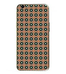 PrintVisa Designer Back Case Cover for Oppo F1s (Floral Pattern Flowers Dotted)
