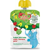Cuore Di Frutta Frullato Di Frutta Bio Mela Banana e Pera - Confezioni Da 90 Gr, 12 Unità