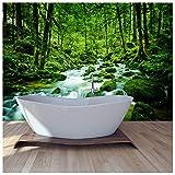 azutura Grüner Wald Fototapete Regenwald Strem Tapete Natur Wohnkultur Erhältlich in 8 Größen X-Groß Digital