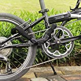 Fahrrad Kettenschloss, marsboy Fahrradschloss 90 cm lang Rahmenschutz, 5-stellig Zahlenschloss für Fahrrad Schwarz. -