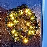 Kingfisher wreath10040cm Pre Lit Kranz