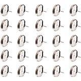 Pandahall 20 Stück 12mm Messing Ohrring Rohling Ohrstecker Nickelfrei Silber