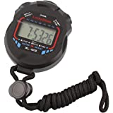LuckyStone Professional Digital Stopwatch Timer ,Handheld LCD Chronograph Water Resistant Stop Watch with Alarm Feature for S