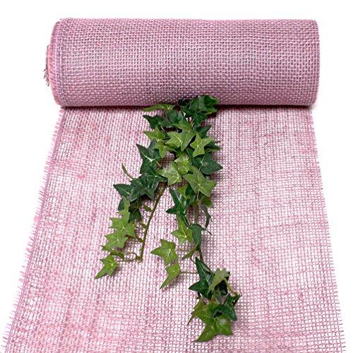 Jute Tischband Div. Farben, 30cm BREIT - 10 Meter, Top Preis !!! (Lavendel)