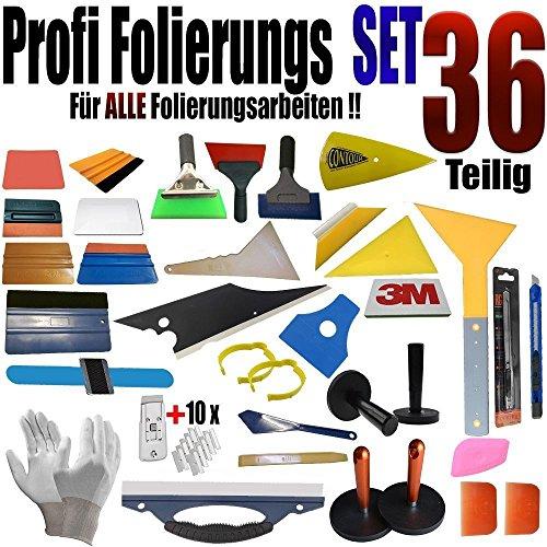 36pezzi set professionale folierung-Dischi toenung-vollfolierung-Raschietto Set