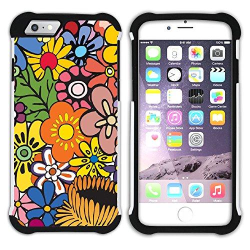 Graphic4You Blume Blumen- Muster Hart + Weiche Kratzfeste Hülle Case Schale Tasche Schutzhülle für Apple iPhone 6 / 6S Design #9
