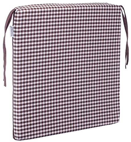 Chair Cushion Squared Pad Seat Pad Garden Cushion–40x 40cm–Anthracite, Light Grey, Brown, Beige–Brand Seller., Polyester, brown, Individual