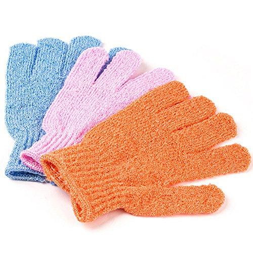 Janly Badezimmer Werkzeuge,5 Stücke Duschhandschuhe Peeling Waschen Haut Whirlpool Handschuhe Schaumbad Rutschfestigkeit Körpermassage Reinigung Luffa Wäscher
