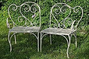 Mobili da giardino sedia VERENA ferro tavolo ferro panca crema 2235300 Bank