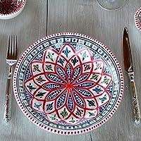 Assiette creuse Bakir rouge - D 24 cm