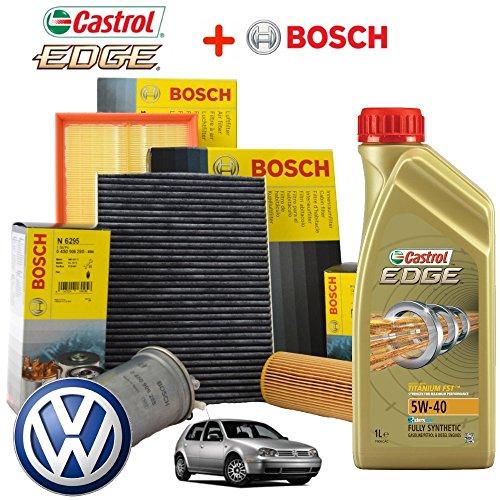 Preisvergleich Produktbild Kit tagliando Öl Castrol EDGE 5W405lt 4Filter Bosch
