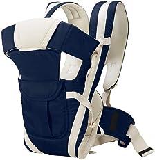IndusBay Baby Carrier 4 in 1 Adjustable Infant Comfortable Sling Backpack & Buckle Strap - Navy Blue
