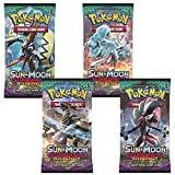 4x Pokémon Sun & Moon Guardians Rising Trading Card Game Booster Pack