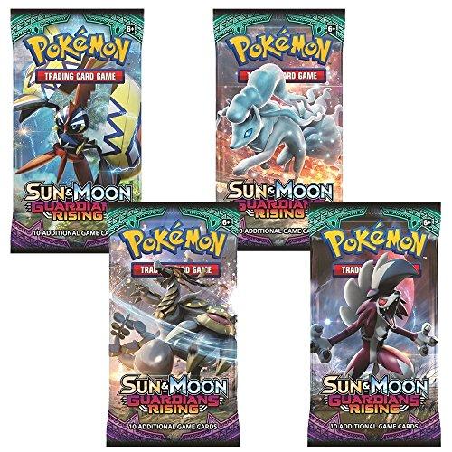 4x Pokémon Sonne & Mond Guardians Rising tauschen Kartenspiel Booster Pack (4 versiegelt Packung)