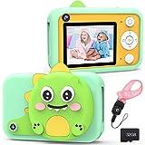 XDDIAS Cámara para Niños, Recargable Cámara Digitale Selfie con 32GB Tarjeta SD, Video Cámara Infantil con Pantalla de 2.4 Pu