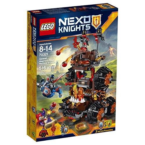LEGO Nexo Knights 70321 General Magmar's Siege Machine of Doom Building Kit (516 Piece) by LEGO