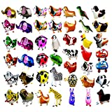 Stonges 20pcs Animaux de Ballons Animaux de Compagnie, air Walker Ballons, kit de Ballon en Aluminium Helium Foil Mylar pour Enfants fête d'anniversaire fête de Naissance décoration Enfants Cadeau