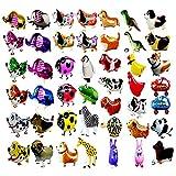 20 Stücke Tier folienballon Haustiere, Air Walker Ballons, Mylar Folie Helium Aluminium Ballon Kit für Kinder Geburtstag Party Baby Shower Decor Kinder Geschenk